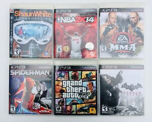 Lot of 6 Used PlayStation 3, PS3, Video Game Cartridges, Tested