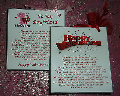 Valentines Day Gift Idea Bag of Love & Card Novelty Fun Personalised For Him Her (Valentine Day Card Ideas)
