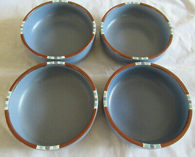 Dansk MESA SKY BLUE Set of 4 Soup / Cereal Bowls Japan 5 7/8