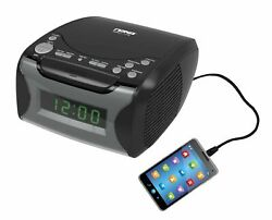 NAXA NRC-175 Digital Alarm Clock Radio w/ CD player & USB Charge Port™