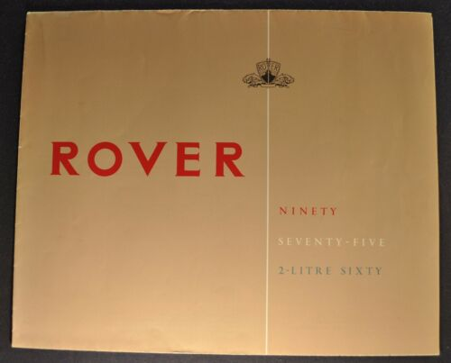 1954-1955 Rover 90 75 2-Litre 60 Sales Brochure Folder Excellent Original