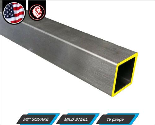 """5/8"""" Square Metal Tube - Mild Steel - 16 gauge - ERW - 60"""" long (5-ft)"""