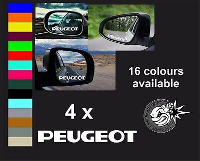 PEUGEOT  x 4  LOGO MIRROR DECALS STICKERS GRAPHICS Van Sport Fun