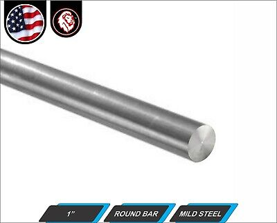 1 Round Bar - Solid Mild Steel - 24 Length 2-ft