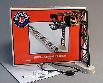 LIONEL SINGLE SIGNAL BRIDGE track accessory plug n play red green 6-83173 NEW