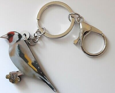 PLASTIC GOLDFINCH BREEDER BREEDING CAGE AVIARY KEY RING ENTHUSIAST ACRYLIC 60mm