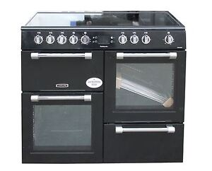 Leisure Electric Range Cooker 100cm Ceramic Hob Double Oven Black #2128