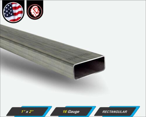 "1"" x 2"" Rectangular Metal Tube - Mild Steel - 16 gauge - ERW - 48"" Long (4-ft)"