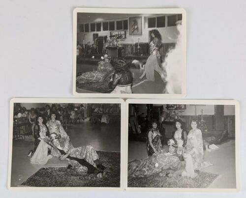 1980s Fraternal Order Eagles Grand Worthy Pres James Mason Belly Dancers Photos