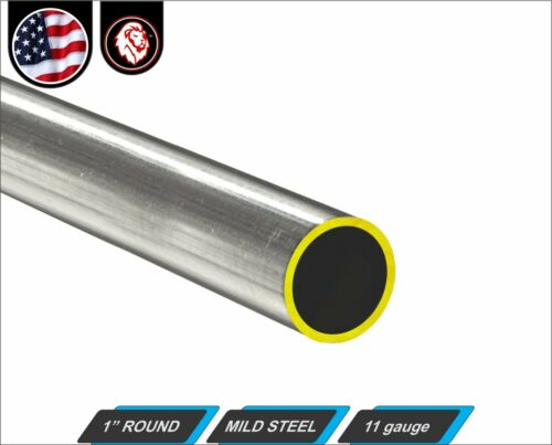 "1"" Round Metal Tube - Mild Steel - 11 gauge - ERW - 12"" inch Long (1-ft)"