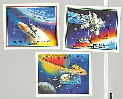 Sierra Leone #1075-1077 Space Unissued Denominations!, 3v. imperf proofs S/S