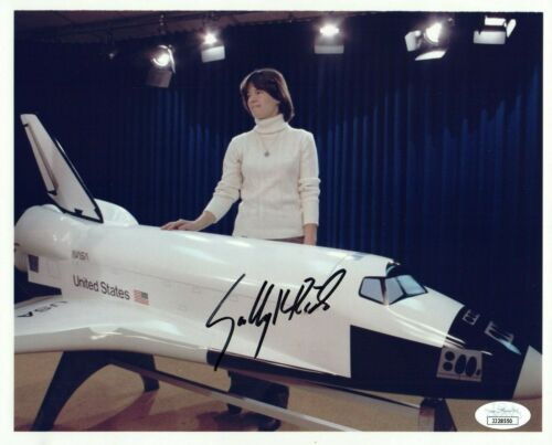 Sally Ride Astronaut Signed 8x10 Photo with JSA COA
