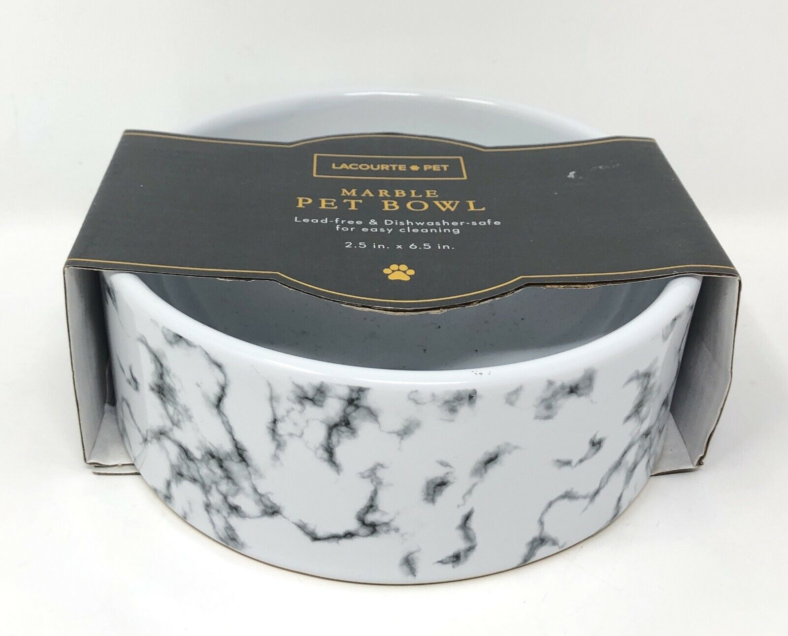 Lacourte Pet Marble Pet Food Bowl - New!