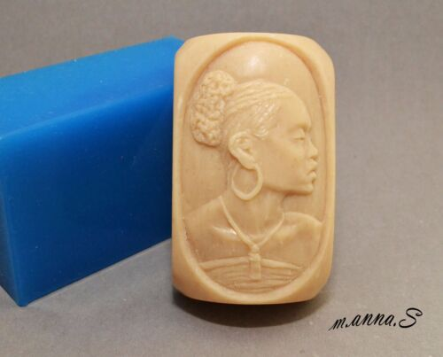 AFRICAN LADY SILICONE SOAP MOLD BAR MOULD Black beauty