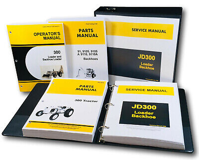 Service Parts Operators Manual John Deere 300 Industrial Tractor Loader Backhoe