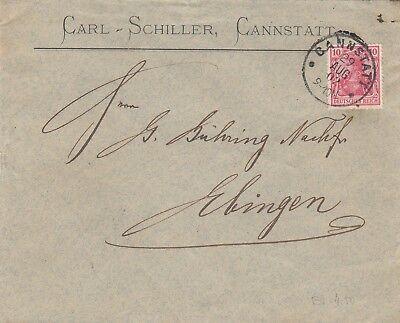 CANNSTATT, Briefumschlag 1902, Carl Schiller