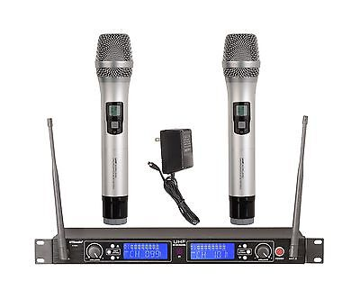 2x100 Channel UHF Wireless Hand held Microphone Mic System New 522H Sliver for sale  Shipping to Nigeria