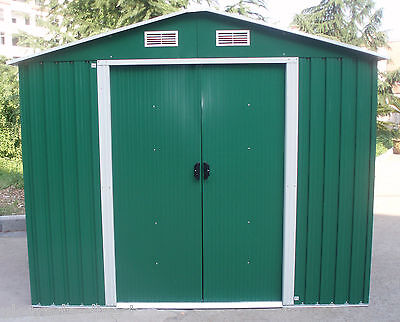 NEW METAL GARDEN SHED 6 X 4, 8 X 4, 8 X 6, 10 X 8 GARDEN STORAGE PENT & APEX