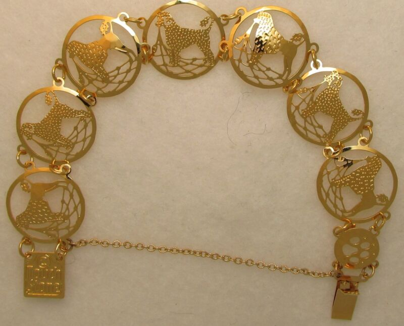 Portuguese Water Dog Jewelry Gold Bracelet by Touchstone