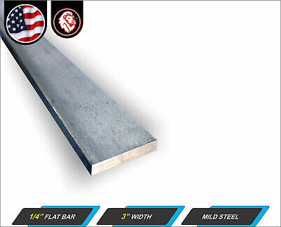 14 X 3 Steel Flat Bar - Metal Stock - Plain Finish - 12 Long 1-ft