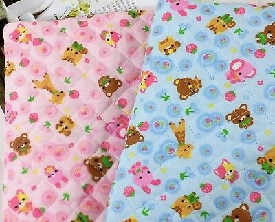 Animal Cotton blend Ready quilted Fabric YARD Pre quilted padded children JQ42:](Quick Animal Costumes)