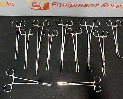 Weck V. Mueller Codman Pilling Vascular Clamps Surgical Instruments Lot Of 11