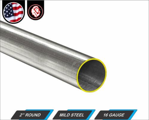 "2"" Round Metal Tube - Mild Steel - 16 gauge - ERW - 24"" inch Long (2-ft)"