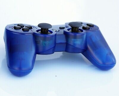 Transparent Wireless Remote PS3 Controller Gamepad 4 use with PlayStation3 Blue, used for sale  Shipping to Nigeria