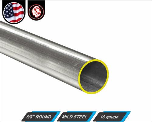 "5/8"" Round Metal Tube - Mild Steel - 16 gauge - ERW - 36"" Long (3-ft)"
