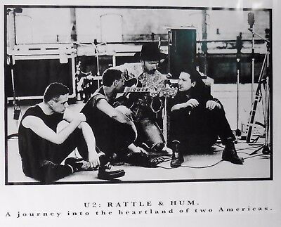 """U2 Rattle & Hum vintage poster  24"""" X 36"""" (b10) for sale  Shipping to Canada"""