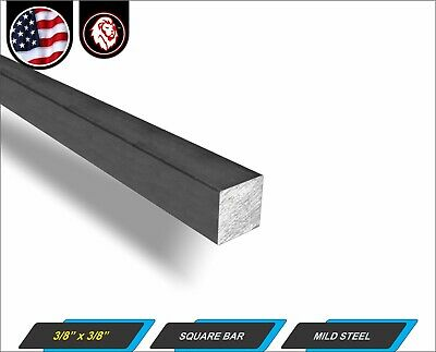 38 Square Metal Bar - Square Metal Stock - Mild Steel - 12 Long 1-ft