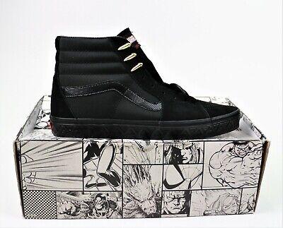 New Vans VANS X MARVEL SK8-HI Black Panther Shoes Men's Sizes 10, 11, 12