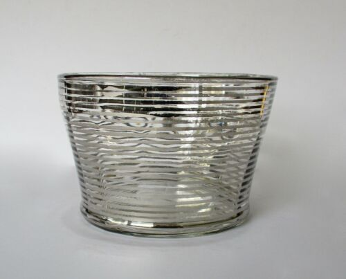 Antique Victorian  Bowl With Sterling Silver on Glass