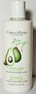 New Crabtree & Evelyn Avocado Olive & Basil Skin Revitalising Body Lotion 8.5 oz - Olive Avocado