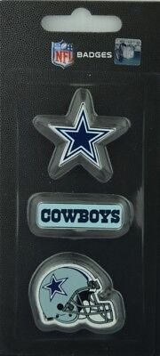 NFL Football DALLAS COWBOYS 3 teiliges Stück Badge Pin Set mit Helm Logo ()