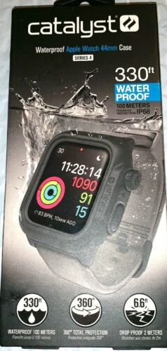 Catalyst Waterproof Apple Watch 44mm Case Series 4  Series 5 GRAY-Black NEW
