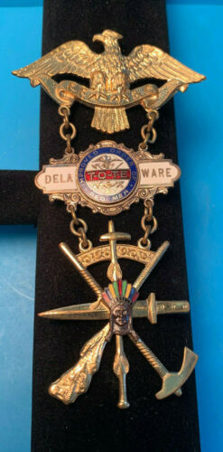 Vintage Delaware Improved Order Of The Red Men F.F.& C. T-O-T-E Fraternal Pin