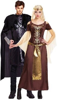 Tv Couple Costumes (Couples Ladies & Mens Ice And Fire TV Book Film Fancy Dress Costumes)
