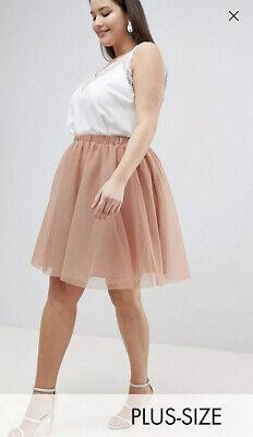 John Zack Plus Pastel Pink Salmon Mini Tulle Skirt Size 26