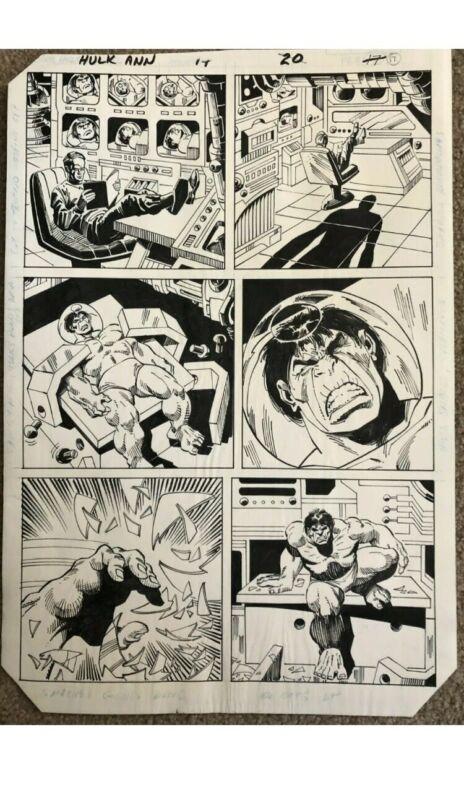 hulk original comic art