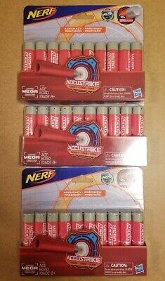 Nerf N-Strike MEGA ACCUSTRIKE Series LOT of 3 10X Packs Darts 30 TOTAL Sale!!