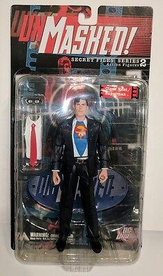 """UNMASKED SECRET FILES SERIES 2 CLARK KENT / SUPERMAN 6"""" ACTION FIGURE DC DIRECT"""