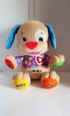 Talk & Sing Puppy Dog Plush Interactive Toy Fisher Price Laugh & Learn ABC 6 Mo+