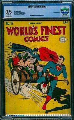 World's Finest Comics # 17 Superman/Batman !  CBCS 0.5 scarce Golden Age book !