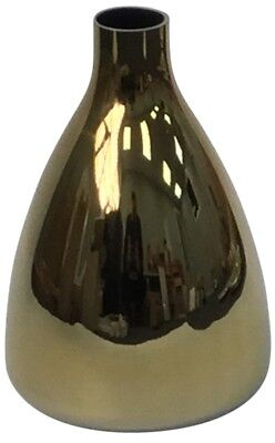 20cm Alto Oro Cristal Pirámide en Forma De Flor Jarrón Florero Botella...