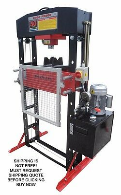 NEW Redline RE50T Shop Press 50 Ton Auto Automotive Hydraulic Electric Metal