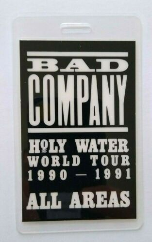 Bad Company Holy Water Tour Backstage Pass Original 1990 Hard Rock Music Gift