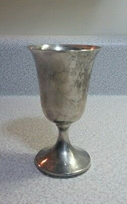 "Vintage Preisner Sterling Silver Goblet #23  Footed 4-1/8"" Tall  Footed Goblet"