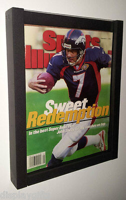 Magazine Sports Illustrated Display Frame Case Black Shadow Box Bh02-bl