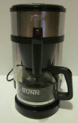 10 Cup Drip Coffee Maker (Bunn Coffee Maker 10 Cup Drip Filter Stainless Black NHS-B Tested Working)